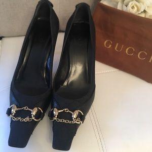 GUCCI -  HORSEBIT BLACK PUMPS